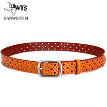 [DWTS] Leather Belts For Women Fashion Genuine Belts For Jeans Women Top Quality  Brown Black Belt Womens Strap Ceinture Femme