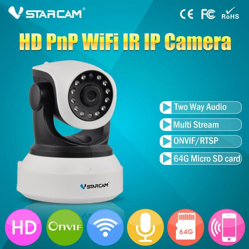 Vstarcam C7824WIP Onvif 720P IP Camera Wireless Wifi CCTV Camera HD Indoor Pan Tilt IR CUT Security Network Support 128G SD Card<br>