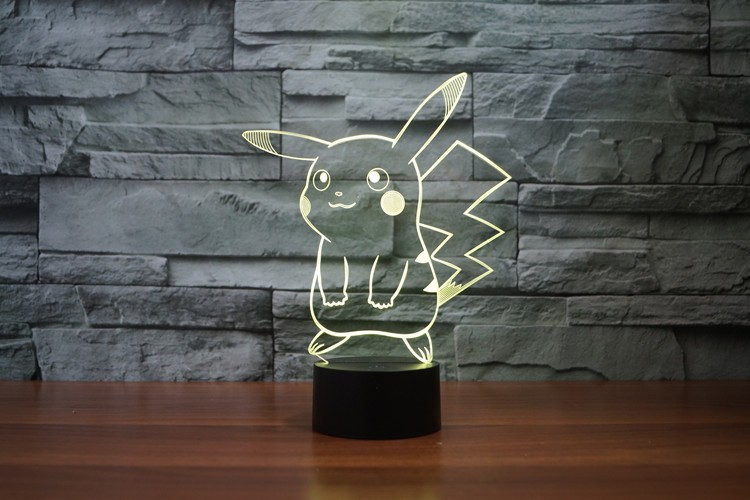 Pikachu 3D Illusion Nightlight pokeball go Action Figue LED toy 7Colors Changing Xmas best gifts for Kids Bedroom Lighting toys<br><br>Aliexpress
