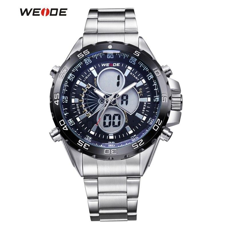 New Luxury WEIDE Men Sports Watches Mens Digital Black Military Wristwatch Full Steel Relogio Male Clock Men relojes<br><br>Aliexpress