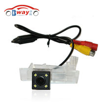 BW8277 China Post 100% Waterproof 170 Degree Wide Angle rear camera for 2014-2016 Skoda Octavia Fabia Car Rear View Camera