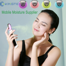 Mobile Moisture Supplier Cell Phone Beauty Mist Spray Diffuser Portable Mobile Phone Filling Water Meter for iPhone IOS Android(China)