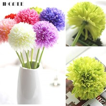 1PCS Cheap Price Green Ball Onion Artificial Hydrangea Flowers Fake Onion Ball Home Decoration Flowers