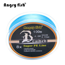 Wholesale 100 Meters 8x Braided Fishing Line 11 Colors Super PE Line(China)