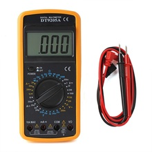 DT9205A Basic Digital Multimeter Electric Capacitance hFE Ammeter Voltmeter Resistance Tester AD DC With LCD Display Handheld(China)