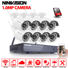 8CH Wireless CCTV System 8 Channel 1080P NVR with 8* 1.0MP 720P Outdoor Waterproof Camera Support 3G Mobile Phone View(China)