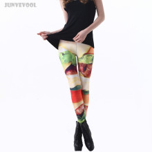 Bodybuilding Stretch Pants Trousers Women Leggings Hamburg Printed Women's Fit Appearl Lady Girl Simulation Hamburgers Capris