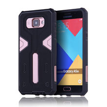 For Samsung Galaxy A510 [Cool Robot] PC + TPU Hybrid Cell Phone Back Case Armor Cover Dust Plug Drop Protection Fashion