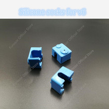 A Funssor  Silicone Socks for v6 hotend HEATER BLOCK COVERS Heater Insulation Blue Color 3D Printer parts Free shipping