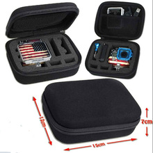 gopro Camera bag portable  Shockproof Protective  Carry case packet package Storage box Small size for gopro 4 3 2 sj4000 sj5000