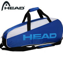 New Head Tennis Bag Hand Carry Bag Sports Badminton Racket Single Shoulder Bag Sports Bag Men And Women (for 3 Pcs Of Rackets)