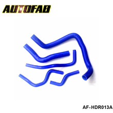 AUTOFAB - Racing Turbo Intercooler Radiator pipping silicone hose Kit For Honda Civic EK9 Type-R B16 B18 95-00 (5pcs) AF-HDR013A