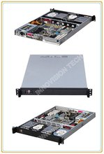 Compact 1U rackmount chassis RC1650 with Stylish Aluminum front-panel server case