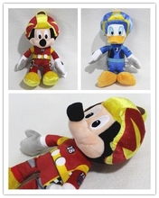Free shipping 1pcs 20cm Original lovly racer mickey mouse Donald Duck plush soft doll  High Quality Gifts