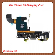 10pcs Charging flex cable for iphone 6S 4.7' 6S plus 5.5  headphone  Audio Jack  USB port  dock  connector  white gold