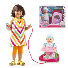 automatic walking doll silicone baby reborn alive doll kit toys set for girl simulation reborn babies kid electric bonecas(China)