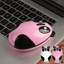 Vococal Portable Cartoon Panda Style Mini Rechargeable 2.4GHz Wireless Mouse for PC Macbook Laptop Accessories Gadgets