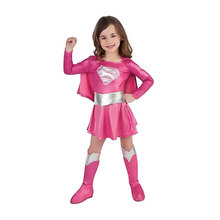 Children Superman Girl Dress Halloween Cosplay party Super Hero Costume with cape,boots,belt Christmas Gifts for Kids(China)
