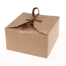 Retro Mini Kraft Paper Box,DIY Wedding Gift Favor Boxes,Party Candy Box,Mini Single Cake Box Packaging(Set Of 12)
