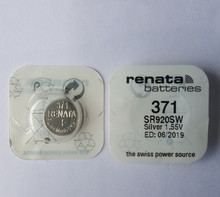 5pieces renata Silver Oxide Watch Battery 371 SR920SW 920 1.55V 100% original brand renata 371 renata 920 battery