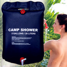 20L Portable Solar Energy Heated Shower Bathing Bag Water Bag Solar Energy Heated Camp Shower Bag PVC Outdoor Camping Shower(China)