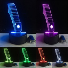 3D LED Night Lamp Lighting USB Base RC Remote Control Poker Playing Card Home Cafe Bar Restaurant Decor Touch 7 Color Change