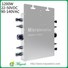 MaySun 1200W Waterproof Solar Power Micro Inverter, 22-50V Micro Grid Tie Inverter with 4 MPPT great efficiency