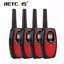 4pcs Retevis RT628 Handy Walkie Talkie Kids PMR Radio 0.5W 8/22CH UHF PMR446 FRS/GMRS VOX PTT LCD Display Mini Children Hf Radio