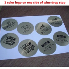 1000pcs Customized LOGO  Printed On Wine Pourer Drop Stop Pouring Disks Wine Pourer Wine Set Promotion Gift