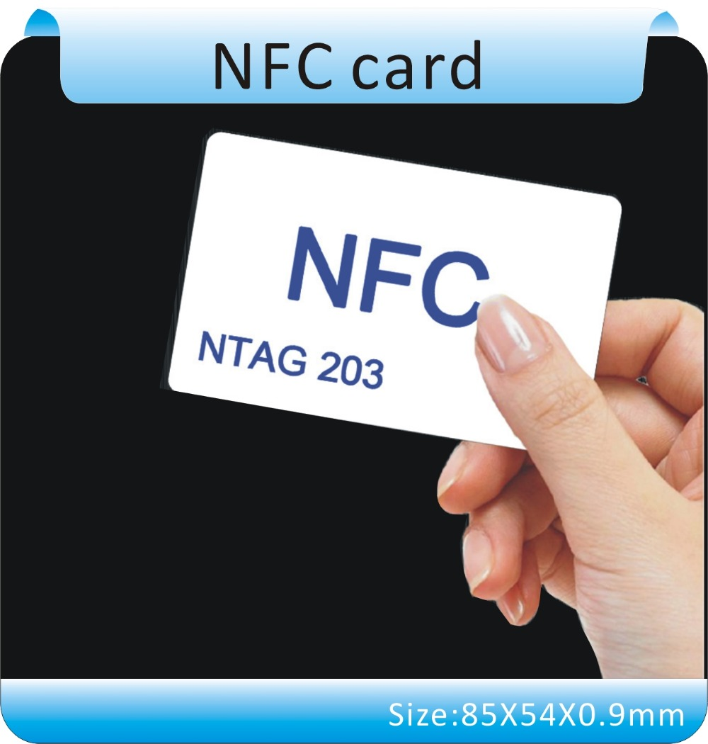 100pcs/Lot Ntag203 Smart Rfid Card 13.56MHz Nfc Card Re-writable White Card ISO 14443A<br><br>Aliexpress