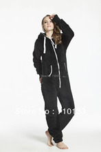 Euro Size Hooded Pajamas Women & Men Autumn & Winter 2014 Adult Warm Cotton Fleece Onesies Pyjama Pijamas Free Shipping(China)
