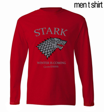 Winter Is Coming Game of Thrones Men T-Shirts 2017 Spring Summer Long Sleeve Men T Shirt 100% Cotton High Quality Men Tops Tees(China)