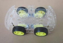 Smart Car 4WD Chassis with Motivated Magnetic Motor Can Be used with Arduino or Raspberry Pi