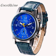 CocoShine A-923 Luxury Fashion Crocodile Faux Leather Mens Analog Watch Wrist Watches wholesale