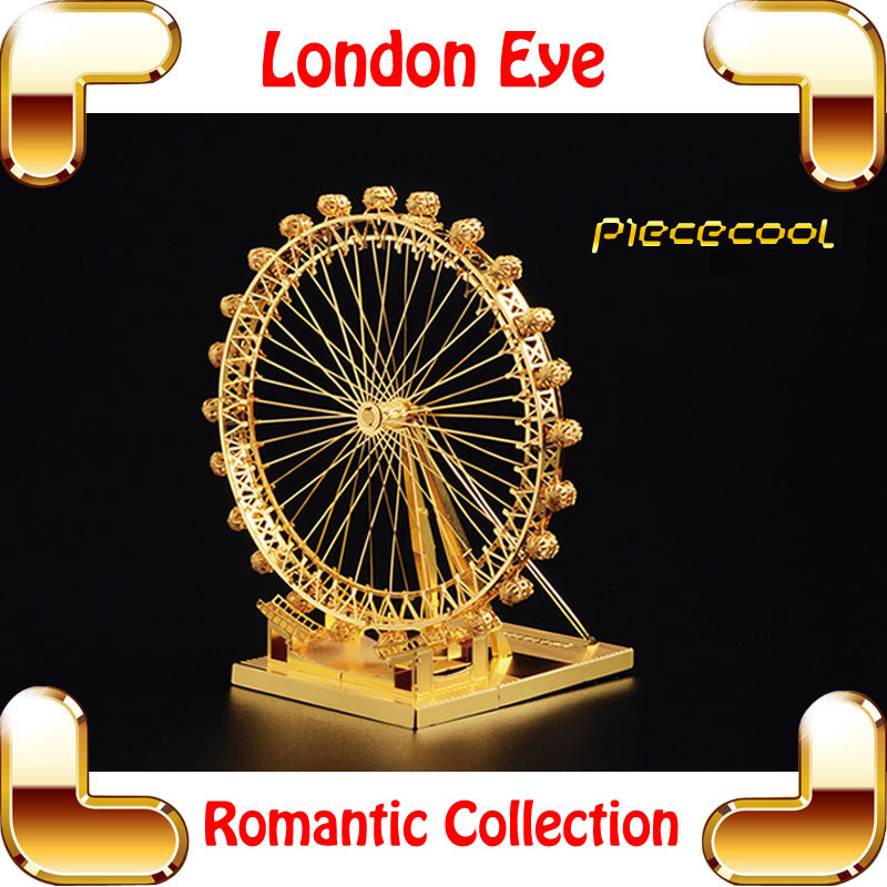 New Coming Gift London Eye 3D Model Building Kits Mini Metal Sky Wheel Puzzle Toy Nano Park Model DIY Education Collect(China (Mainland))
