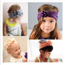 Headband  flower headwrap Folds Vintage stretchy Knot Cotton Turban Photo Prop   Hair Accessories