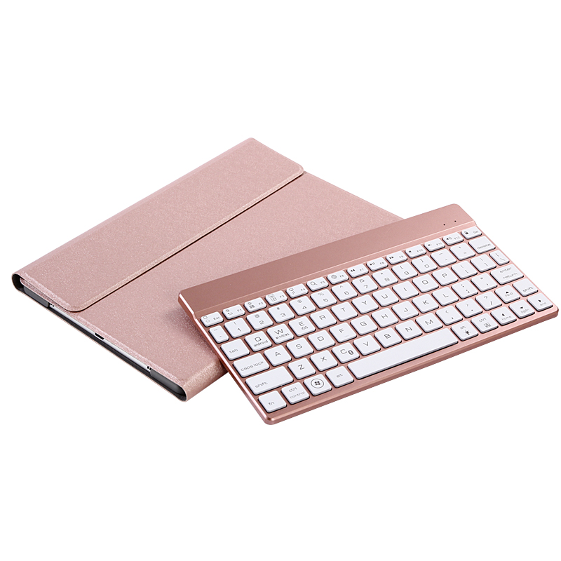 Leather Case For New iPad 9.7 2017 Ultra Thin Smart PU Folio Stand PC Protective Cover+Detachable Wireless Bluetooth Keyboard<br>