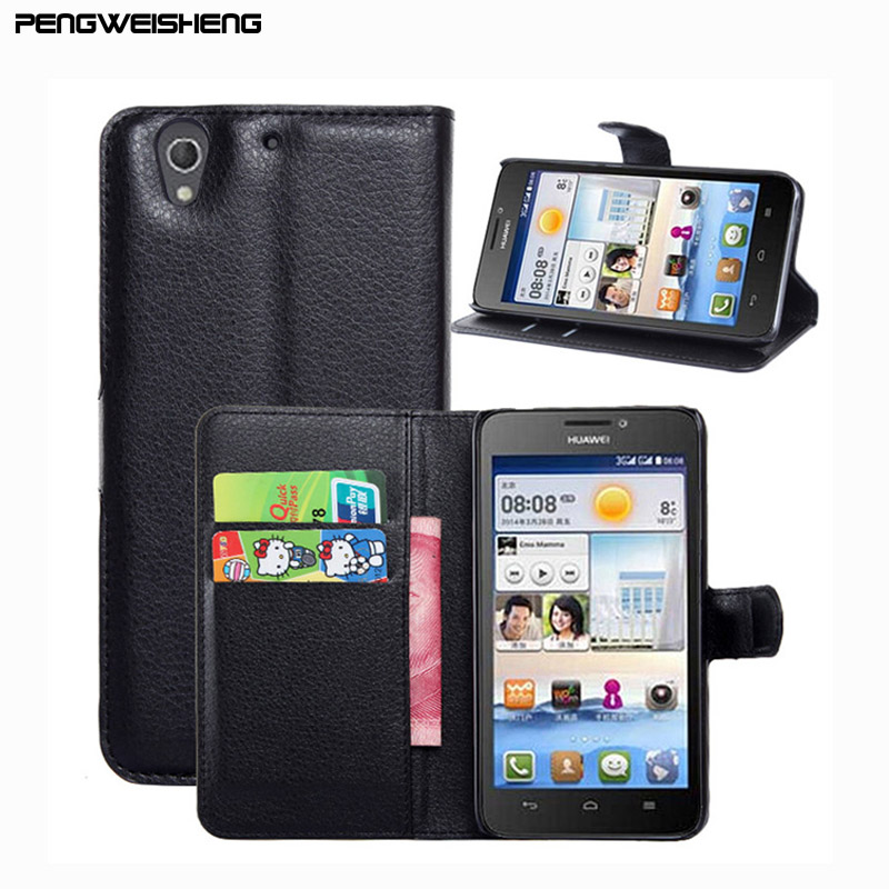 Hot Selling Huawei G630 Case Wallet Style PU Leather Case Huawei Ascend G630 Stand Function Card Holder