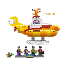 Classic Idea The Beatles yellow Submarine building block mini doll bricks compatible lego21306 toys for kids gifts