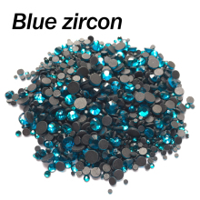 Hotfix Rhinestones Blue zircon Mixed size SS6 SS10 SS16 SS20 SS30 2060Pcs/lot Crystal stones for rhinestone motif free shipping