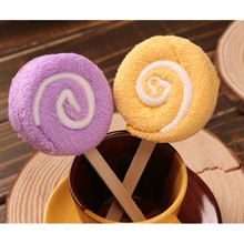 Baby Towels 100% Cotton Festa Wedding Favors Baby Shower Decorations Lollipop Towel Wedding Gifts Birthday Gift Ideas 20cmX20cm