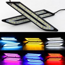 LED Daytime Running Light LED DRL 12v Waterproof Aluminum House Day Light White Ice Blue Yellow Red Car Daytime Running Light(China)