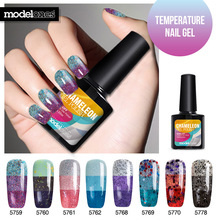 Modelones UV Temperature Nail Gel Polish Nail Art Colorful Red Series UV Gel Nail Gel Lacquer Soak Off Long Lasting Nail