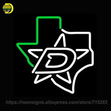 Neon Sign for Dallas Stars Alternate Pres NHL Handmade Neon Sign Light Store Wall Displays Sign arcade neon Signboards Art lamps(China)