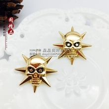 Broche Skeleton Special Offer 2017 Brooches For Juego De Tronos New Punk Style Solid Skull Men's Suits Brooch Small Suit Pin