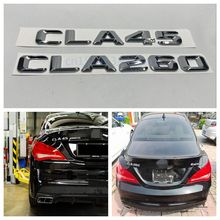 Car-styling For Mercedes Benz AMG 4MATIC CLA45 CLA260 Trunk Rear Number Letters Badge Emblem Sticker