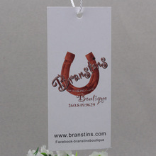 lamination non handwritten paper Hangtag  printed hang tag min 1000pcs/lot  300gsm art paper