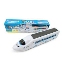 Electric Bullet Train Toy LED Flashing Lights Sounds Child Kid Boy Girl Gift Toy Vehicles Train(China)