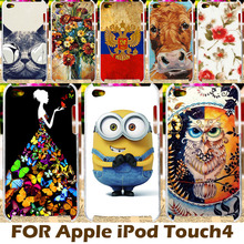 AKABEILA DIY Painting Design Hard Plastic Case For iPod Touch 4 Cases Covers Apple Touch4 4th 4G 3.5 Inch Cover Shell