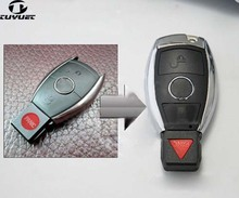 2+1 Buttons Updating Modified Smart Remote Key Shell for Mercedes-Benz Car Key Blanks Case+Battery Holder+Key Blade(China)